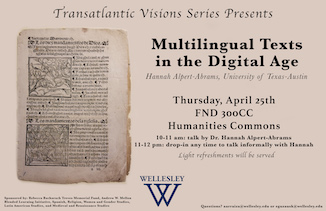 Multilingual Texts in the Digital Age poster