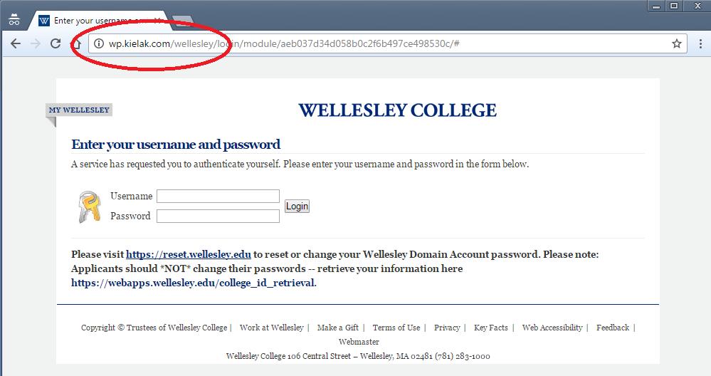 phishing wellesley college