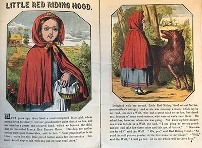Little Red Riding Hood, London, 1865.
