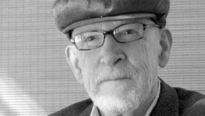 David Ferry black & white portrait