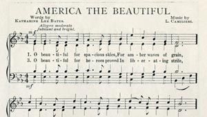 score of America the Beautiful from 1913