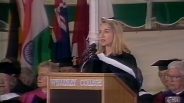 Hillary Rodham Clinton '69 Commencement address in 1992