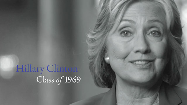 Hillary Rodham Clinton discusses life at Wellesley