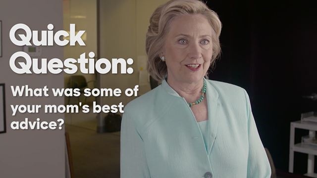 Hillary Rodham Clinton on her mom's best advice