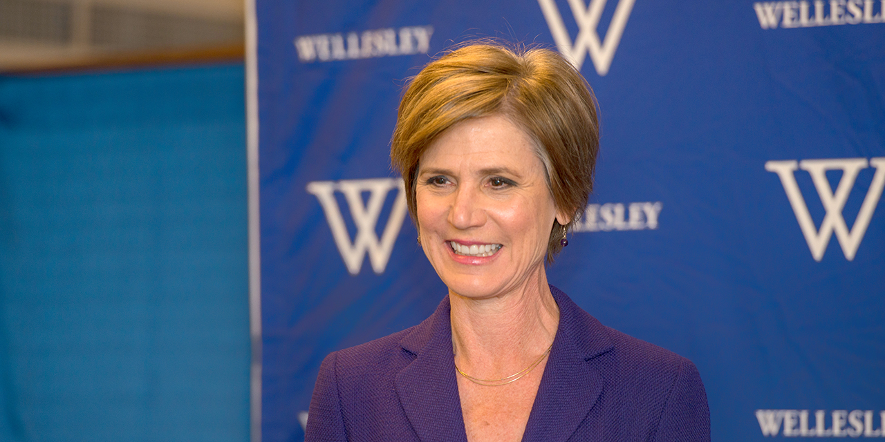 Sally Yates' visit was reported in the Boston Globe