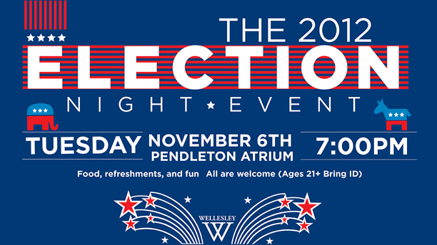 promo graphic for election night party