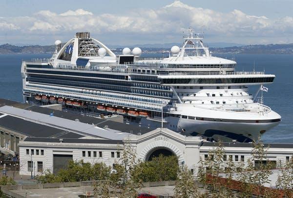 The cruise ship Grand Princess