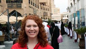 Mary Kenefake '13 in Doha souk