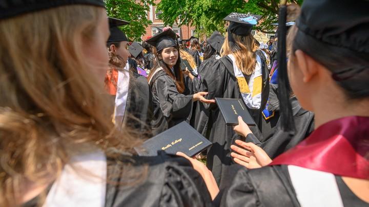 Graduates receive diplomas