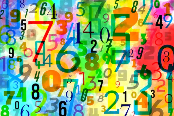 Colorful graphic with lots of numbers