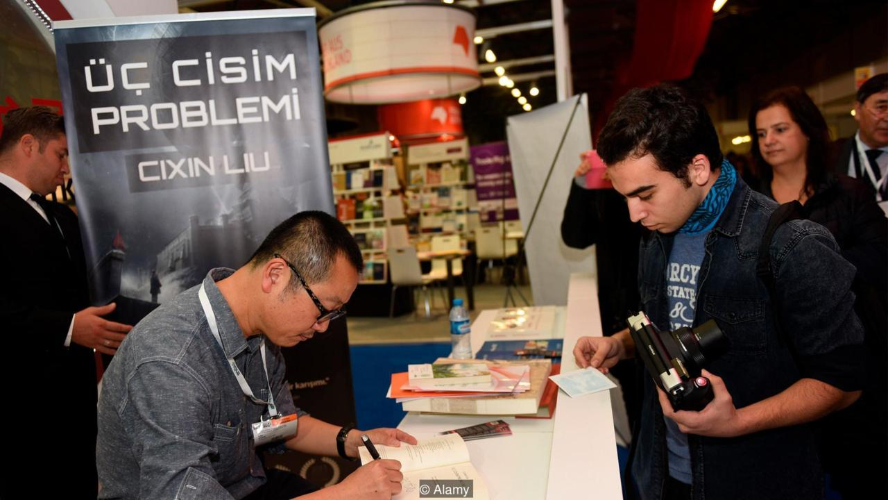 Author at a book signing