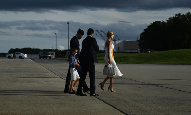 Jared Kushner and Ivanka Trump returning from the cancelled SpaceX launch on 27 May