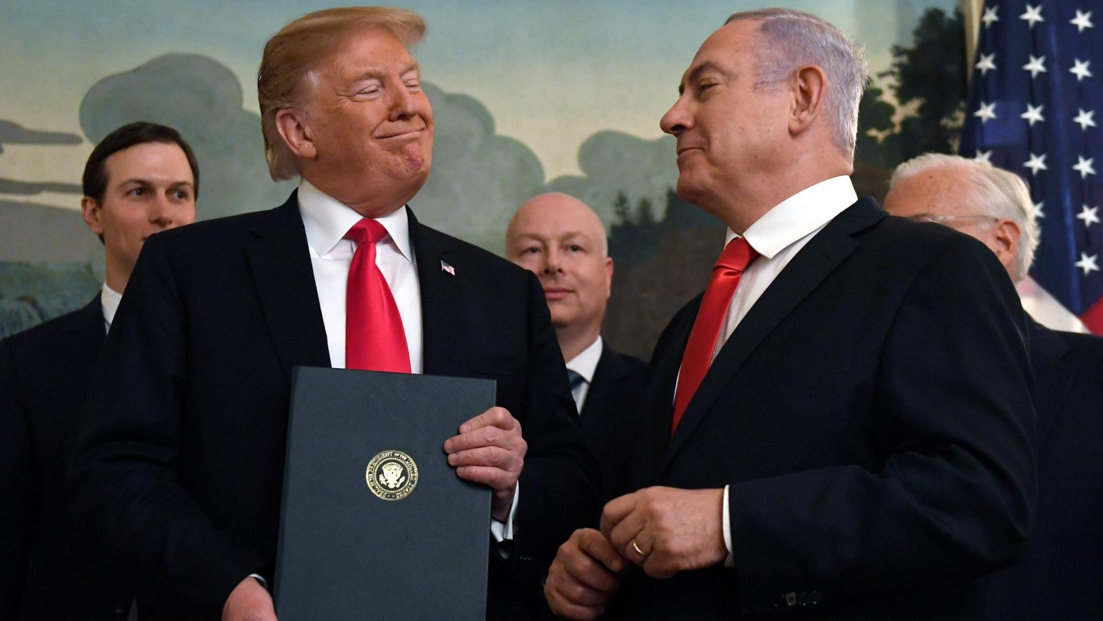 Donald Trump signed a proclamation today (March 25) recognizing the Golan Heights as part of Israel