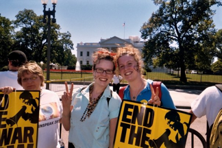 Students at a peace rally