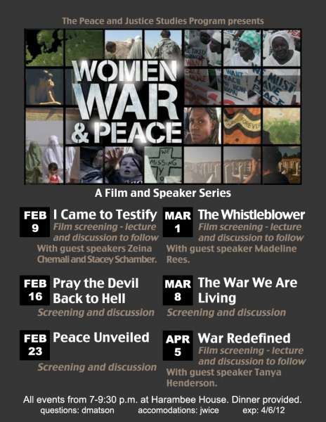 Women, War and Peace series poster