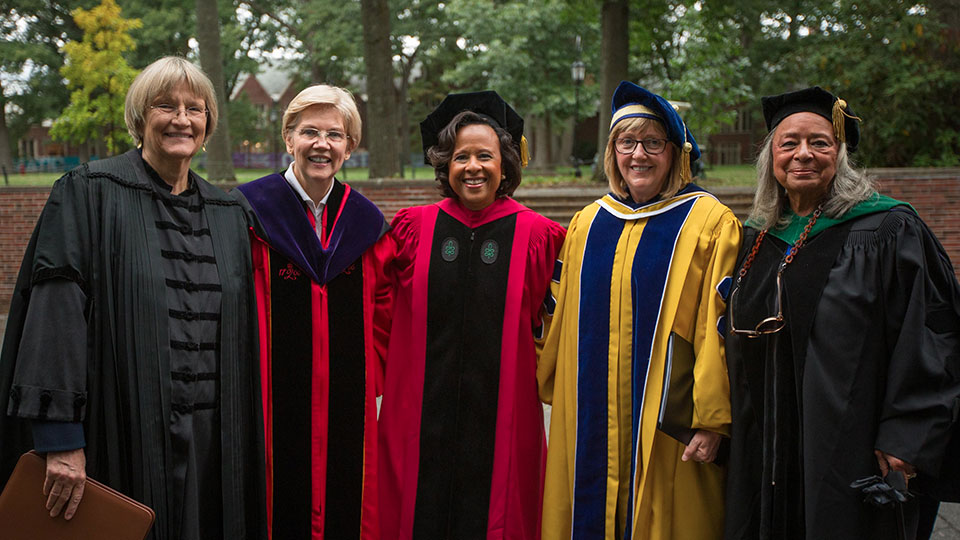 Drew Faust, Elizabeth Warren, Paula Johnson, Kathleen McCartney, Vivian Pinn