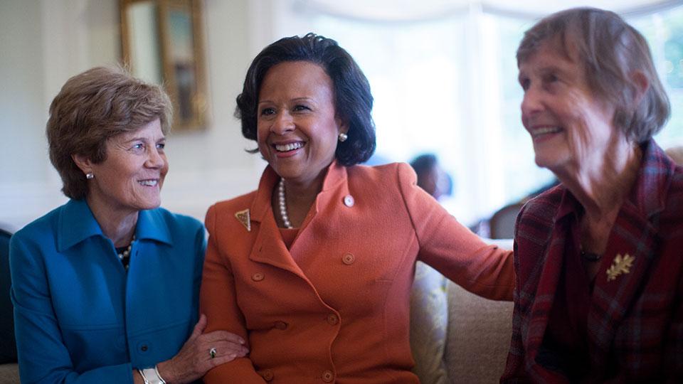 Diana Chapman Walsh, Paula Johnson, and Nan Keohane