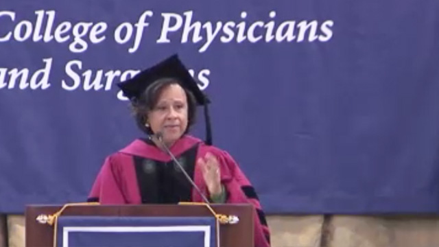 Dr. Paula Johnson delivers the Columbia University's College of Physicians and Surgeons commencement speech