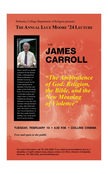 James Carroll Lecture Poster