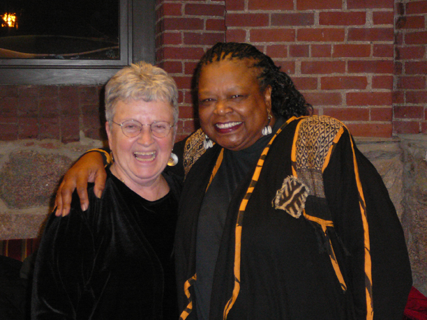 MacArthur Genius Billie Jean Young (right, with Sister Nancy) performed her one-woman play Fannie Lou Hamer: This Little Light at Houghton Chapel in February 2009.