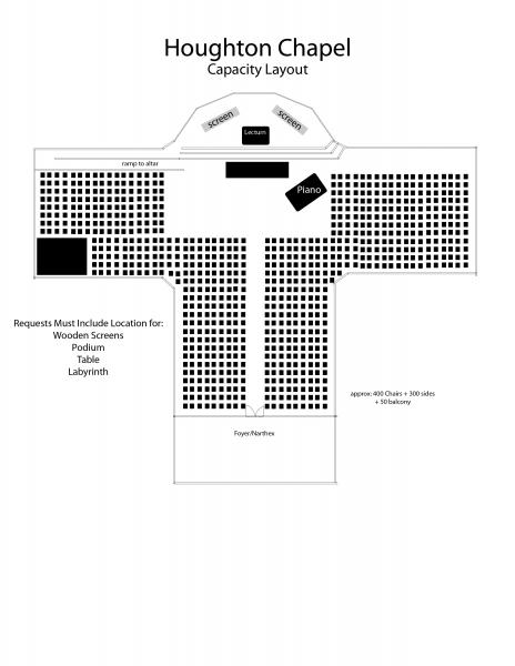 Houghton Chapel Capacity Layout