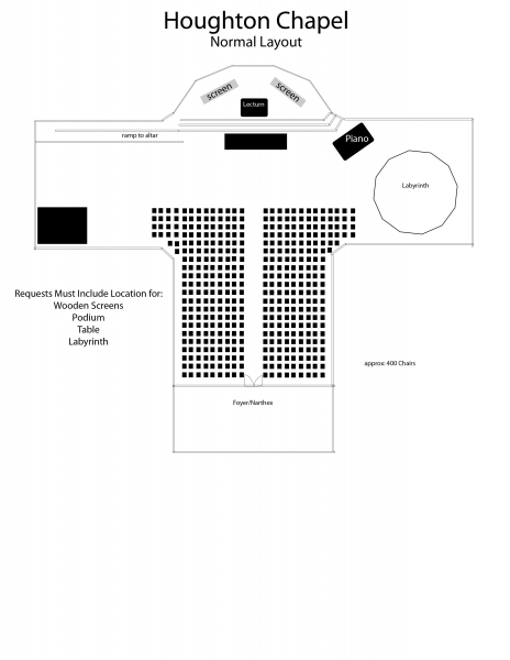 Houghton Chapel Normal Layout