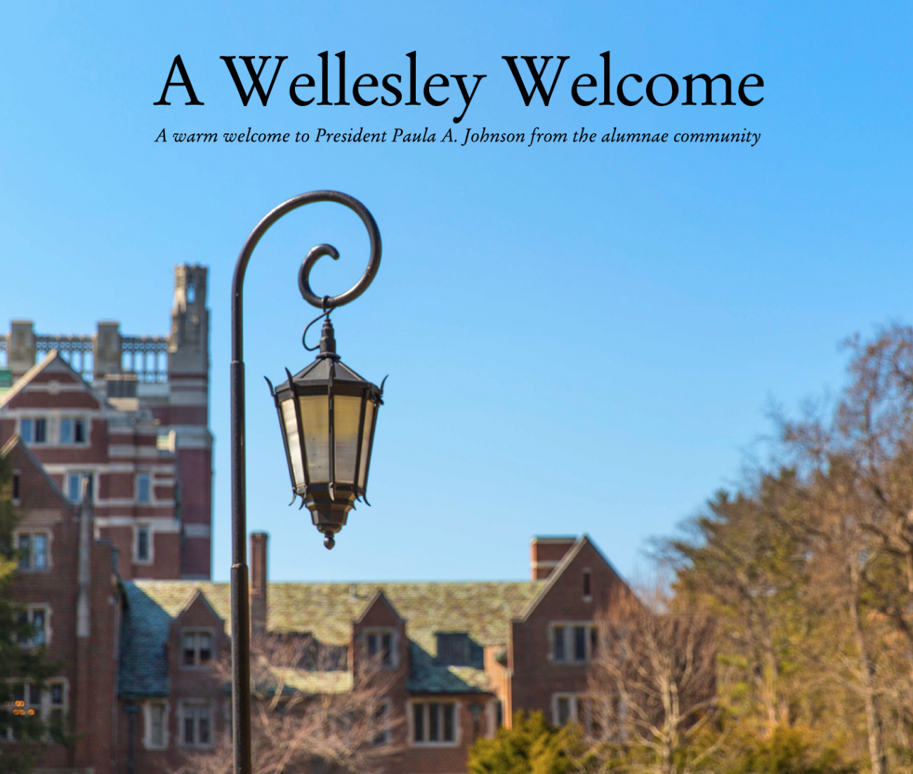 A Wellesley Welcome