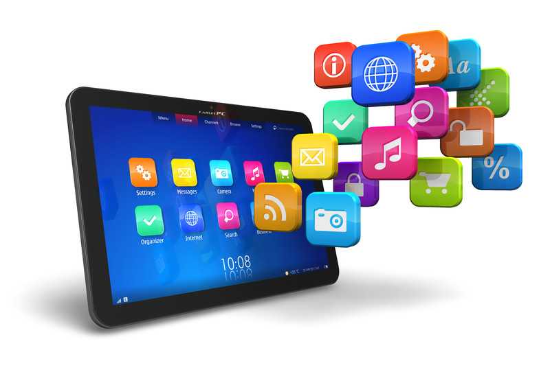 IPad with App Logos