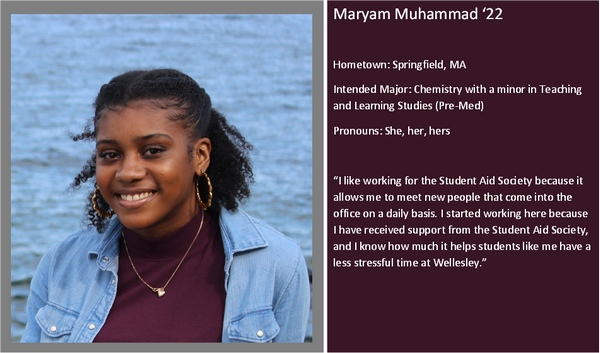 Profile of student worker Maryam Muhammad