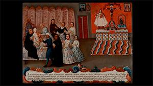 ex voto of Josefa Peres Maldonado, 1777, Davis Museum