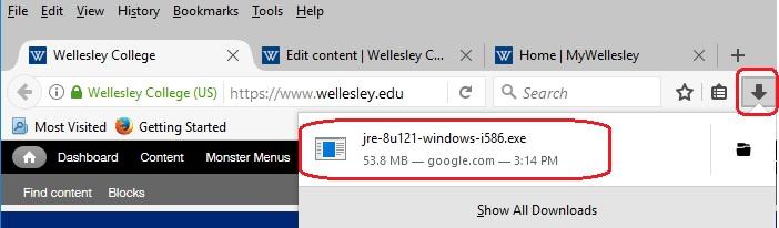 Java 8 for Windows 10 - Firefox | Wellesley College