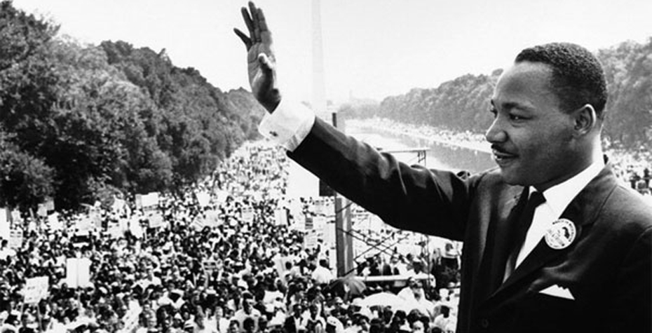 Dr. Martin Luther King, Jr. at the March on Washington.