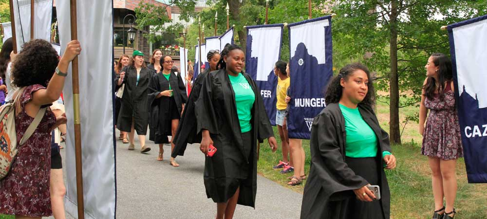 Members of the Class of 2017 Walk at Convocation