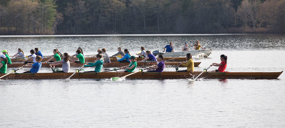 students participating in crew