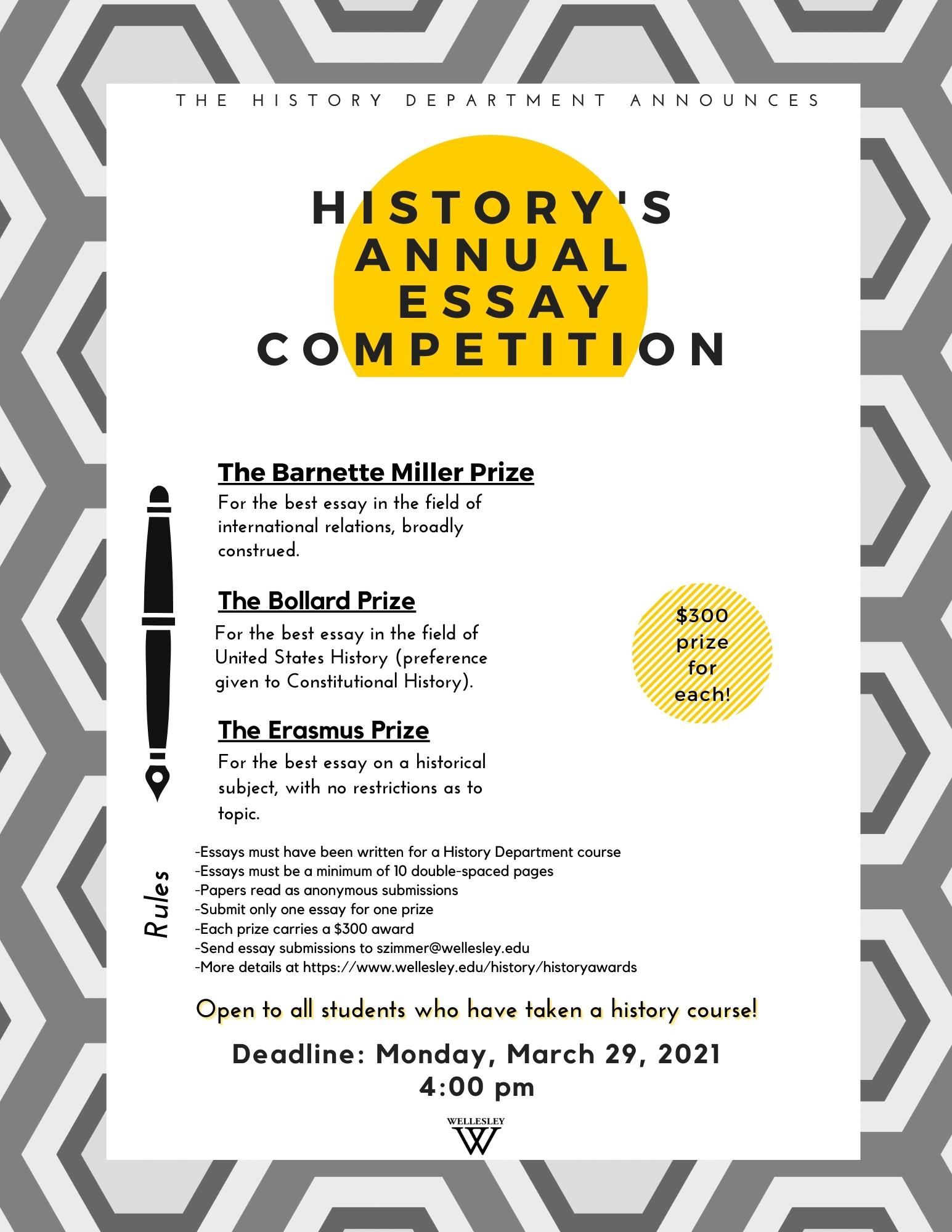 History's Essay Competition