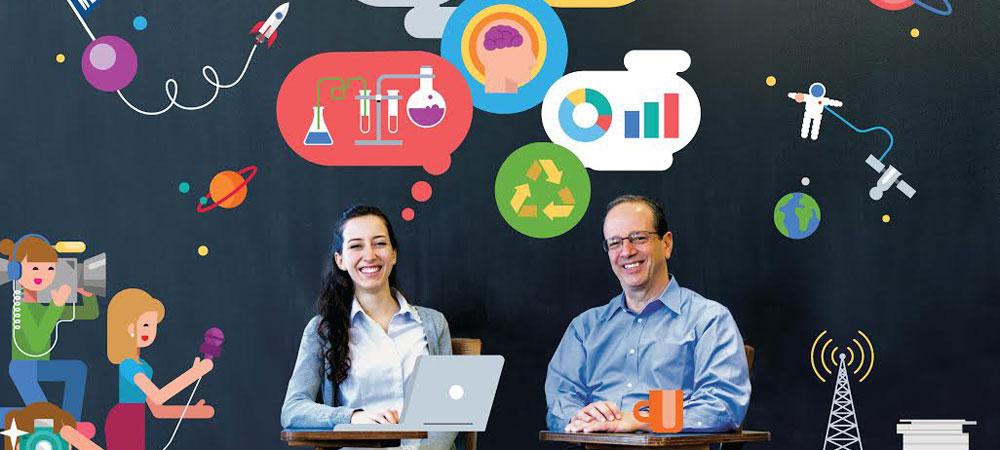 Mariajosé Rodriguez-Pliego '16 with Calderwood program faculty director David L. Lindauer