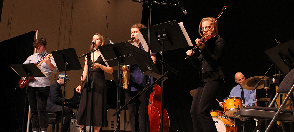 Wellesley's BlueJazz Combos & Strings Showcase - Friday, 4/30 at 7:30pm in Jewett Arts Center Auditorium.