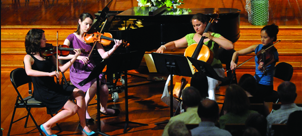 Chamber Music Society Marathon performances take place on Sunday, 5/9 from 12:00 to 5:00pm, Anderson Forum.