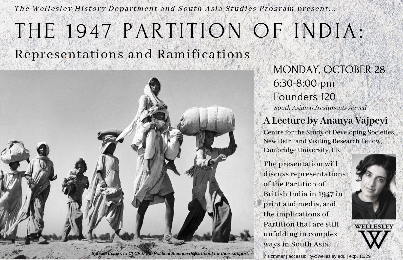 1947 Partition of India Lecture