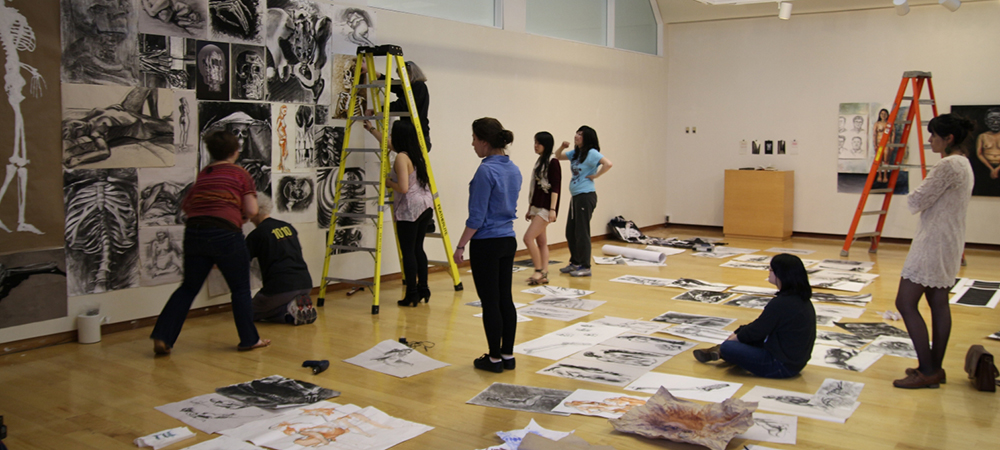 Students complete art project