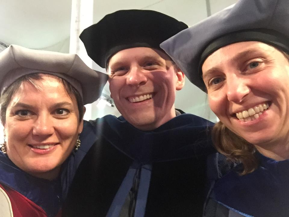 Biochemistry faculty at President Johnson's Inauguration