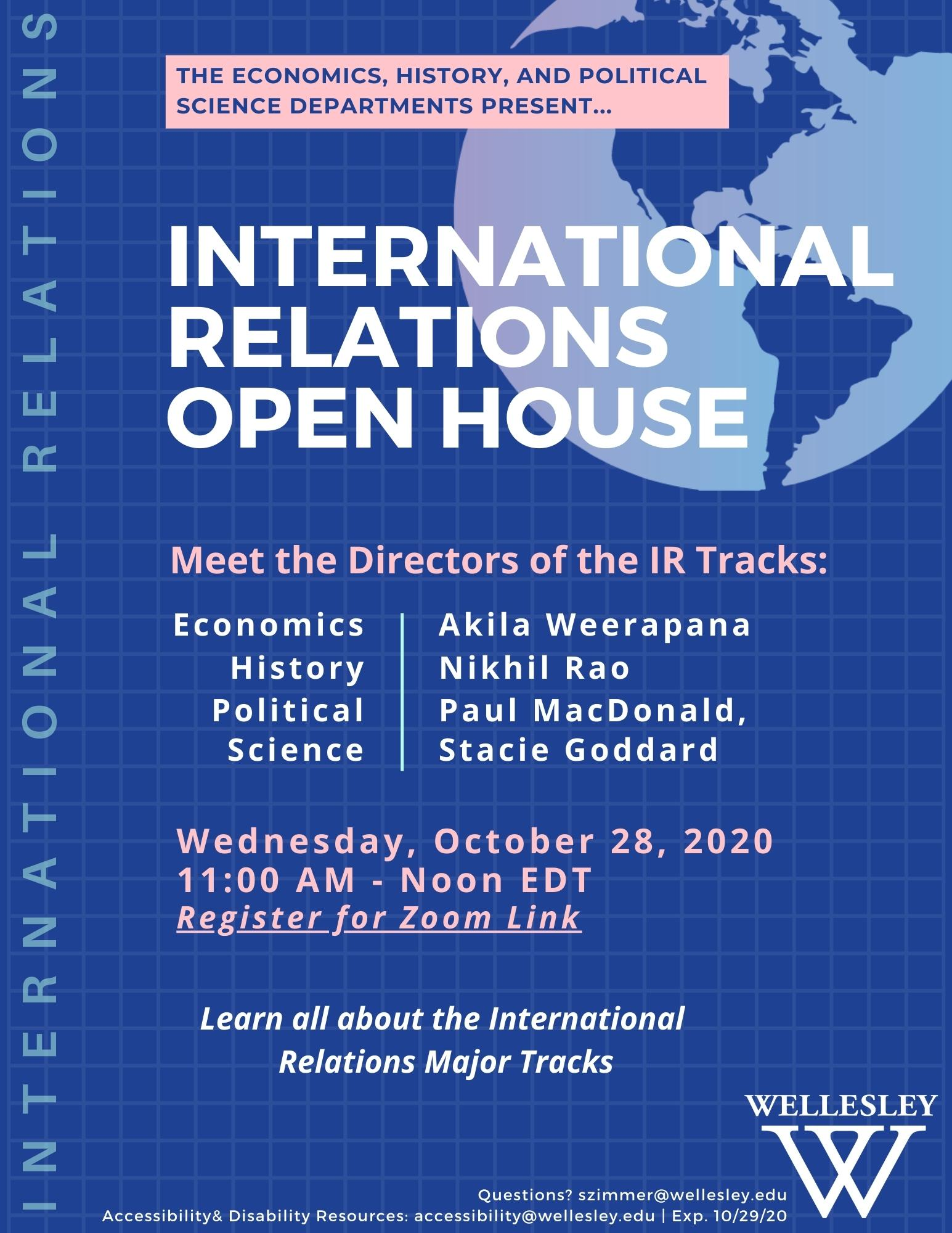 International Relations Open House