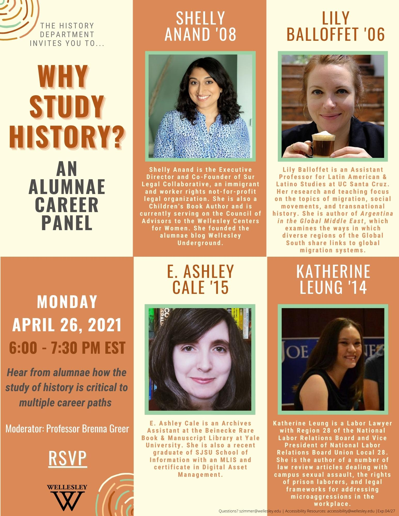 Why Study History?: An Alumnae Career Panel