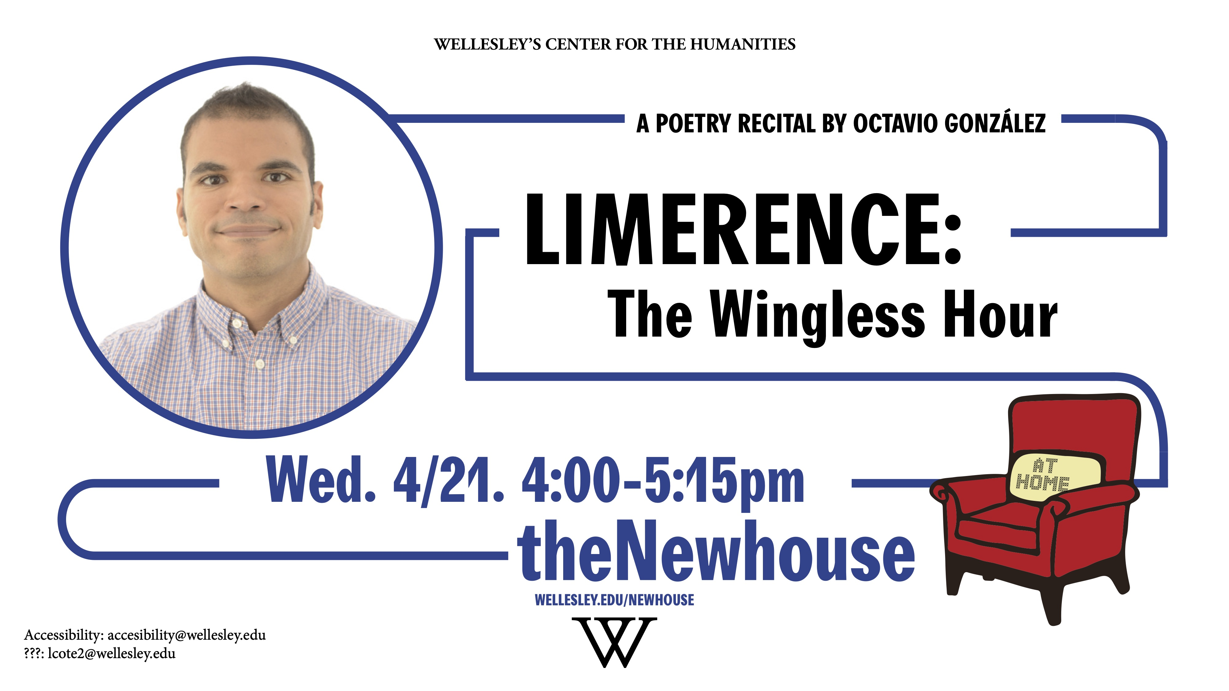 Flyer for Prof. Gonzalez poetry reading at the Newhouse Center.