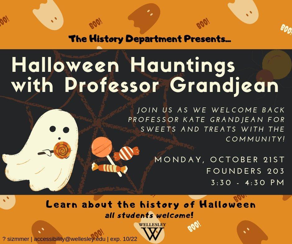 Halloween Hauntings- Welcome Back Prof Grandjean
