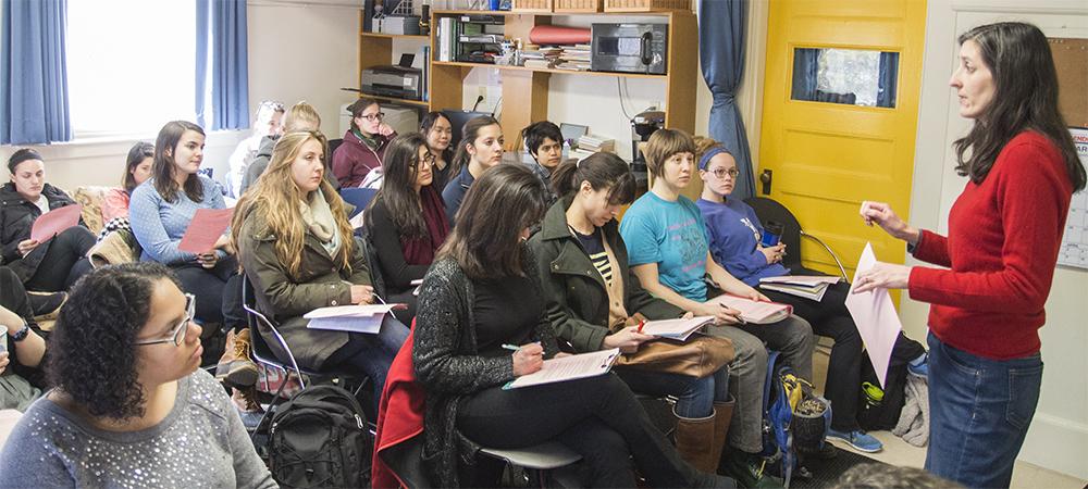 Students listen to their teacher