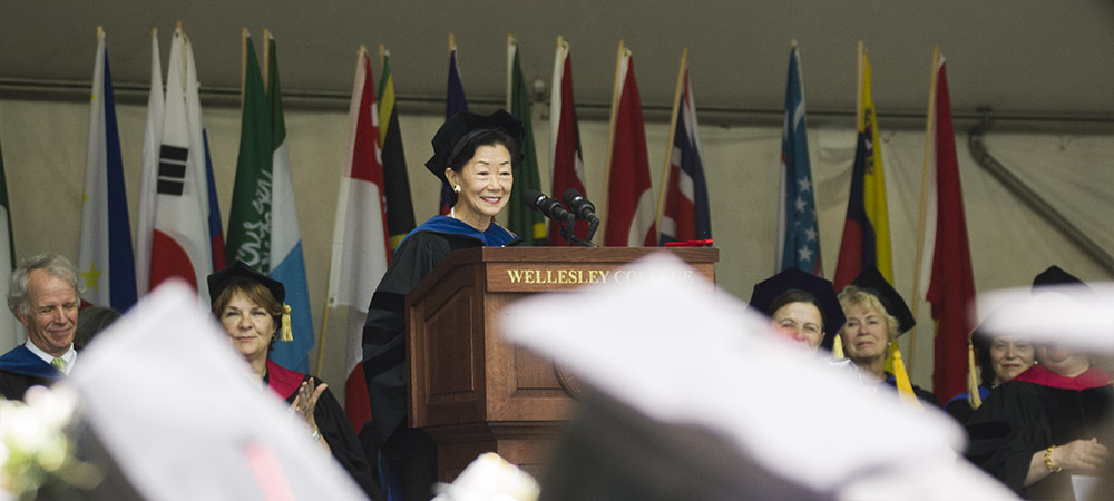 commencement speaker Lulu Chow Wang