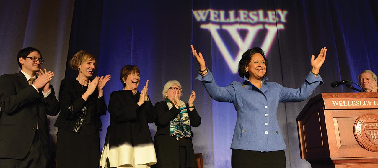 President Paula Johnson meets the Wellesley community