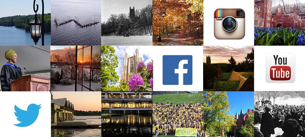 Facebook, Twitter, YouTube, Instagram