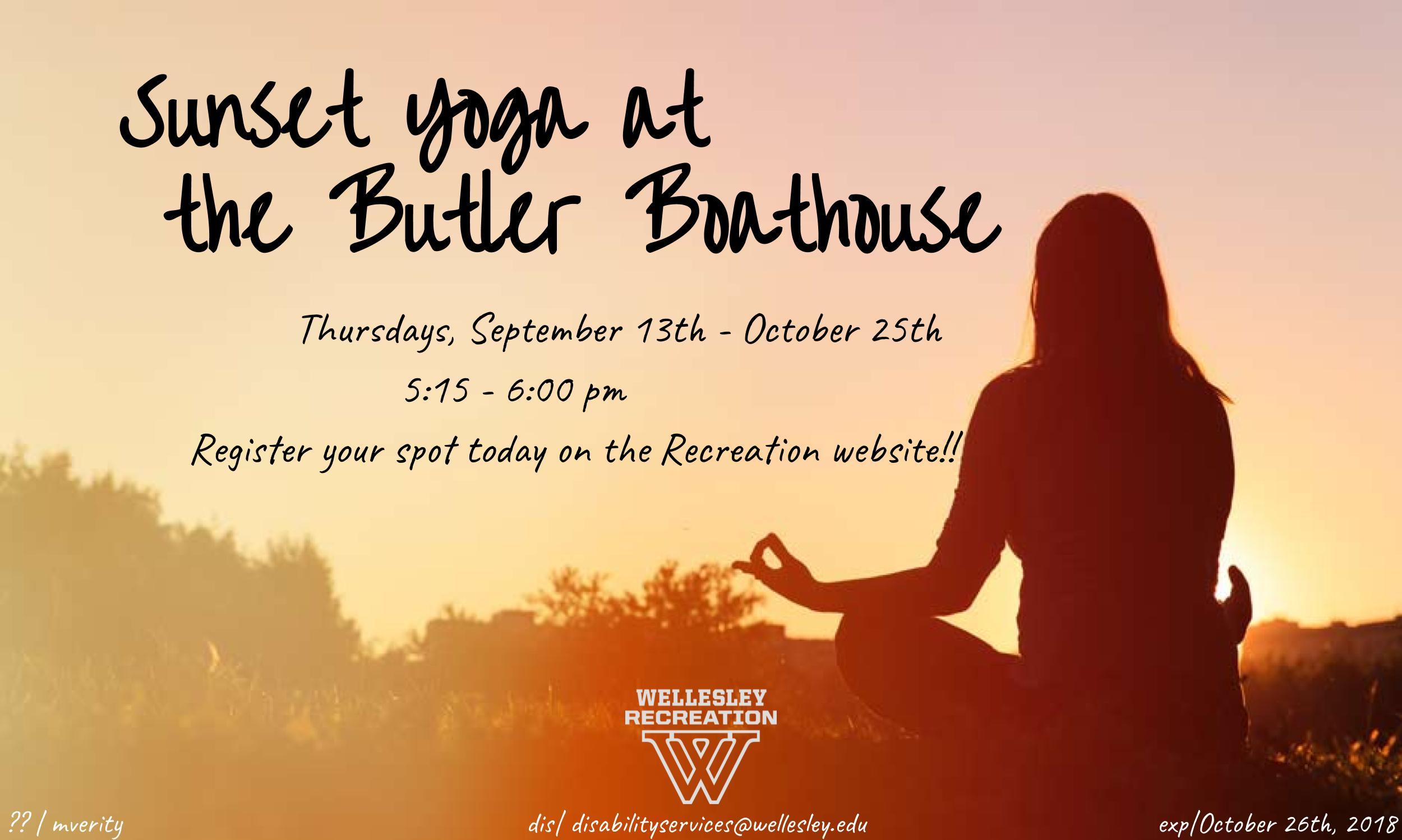 Sunset Yoga at Butler Boathouse